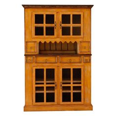 Antique Amish Built Furniture Unfinished Reclaimed Barn Wood China Cabinet Hutch Gardens Hutches And Handmade