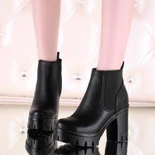 Plus Size34-43 2016 nuevas mujeres atractivas botas de otoño plataformas bombas señora de tacón alto tobillo mujeres botas para la nieve botas SBT2379-1(China (Mainland))