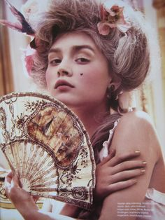 Rococo hair and makeup