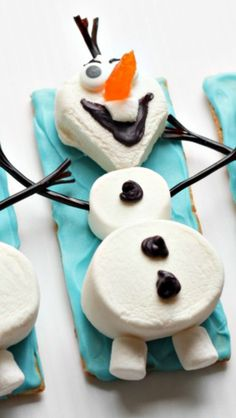 Olaf the Snowman Marshmallows Snacks How-To