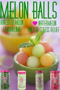 Honeydew melon, I love  watermelon, stress relief & Tahitian Lime