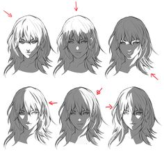 Digital Painting Tutorials, Digital Art Tutorial, Art Tutorials, Shadow Drawing, Body Drawing, Drawing Expressions, Anime Drawings Sketches, Drawing Reference Poses, Drawing Poses