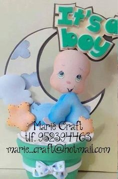 It's a boy Baby Shower, Biscuit, Balloon Flowers, Doll Patterns, Gift Tags, Smurfs, Baby Dolls, Baby Gifts, Marie