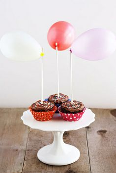 A sweet and easy way to top birthday cupcakes, using a few supplies you probably have laying around the house!