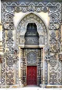 Main Door of the Mosque - Sütlüce, Istanbul (Cool Places Beautiful) Porches, Cool Doors, Unique Doors, Entrance Doors, Doorway, Main Entrance, Grand Entrance, Door Knockers, Door Knobs