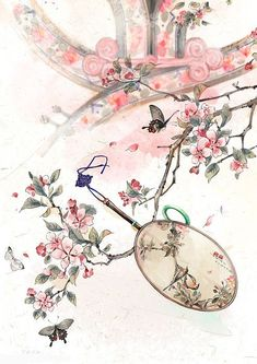 Bowl, anything for autumn sad painted fans. Chinese Background, Chinese Drawings, Art Asiatique, Art Japonais, Art Pictures, Photos, China Art, Ancient China, Japan Art