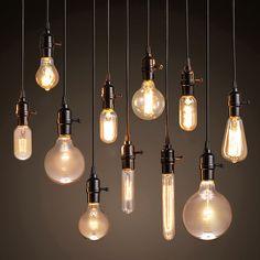 Modern Pendant Lights Loft Vintage Lamp Industrial Home Lighting E27 220V For Decor Lampshade Edison Bulb Lustre Luminaire Avize
