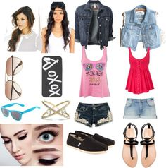 """""""easy summer outfits"""" by cynnamcallister on Polyvore"""