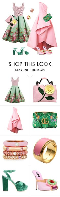 """Без названия #42"" by martan1966 ❤ liked on Polyvore featuring Monique Lhuillier, Gucci, Adolfo Courrier, Marc by Marc Jacobs and Dolce&Gabbana"