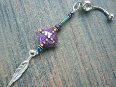 Mood belly ring color changing peacock beads by gildedingypsy, $18.50