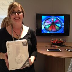 Congrats to Michele Bouterse, our #SpinItToWinIt winner of Beats by Dr Dre! Come try your luck in showroom 1181! #neocon14 #neoconography