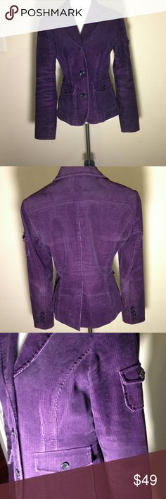 Michael Kors Corduroy blazer- size 4 Ultra cool- dress it up or you can go casual with this lovely plum corduroy blazer from Michael Kors. Excellent condition and no flaws. It is tailored just right and gets bonus points for the pocket on the shoulder. Amazing piece by Michael Kors. Size 4. Michael Kors Jackets & Coats Blazers