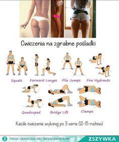 Zobacz zdjęcie Ćwiczenia na zgrabne pośladki. Każde ćwiczenie należy wykonywać po 3 serię w pełnej rozdzielczości