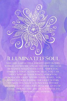Illuminated Soul by CarlyMarie | Redbubble