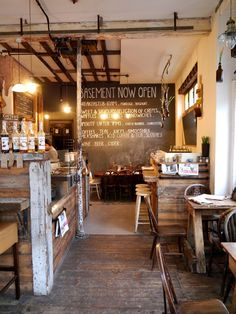 I really like the basement idea in a coffee shop. You can have the open airy…