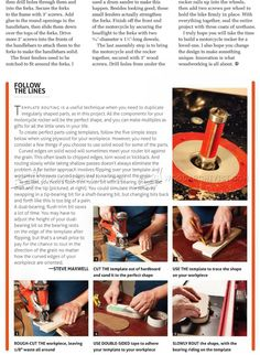Rocking Motorcycle Plans - Children's Wooden Toy Plans and Projects Woodworking Plans, Woodworking Projects, Home Projects, Projects To Try, Wood Toys, Wood Carving, Diy And Crafts, Creations, Motorcycle