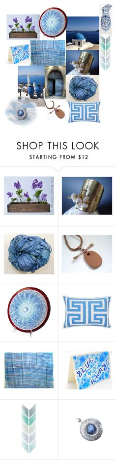 Blue me Away by anna-recycle on Polyvore featuring Rustico, Dena Home, Clover Canyon, modern, rustic and vintage