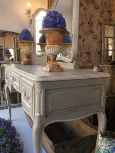 19th century dresser table with mirrors in the centre. @Susan Osbourne.  SOLD