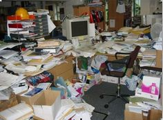 messy desk - Google Search