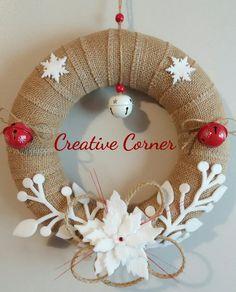 Ghirlanda natalizia in juta, by Creative Corner, 25,00 € su misshobby.com