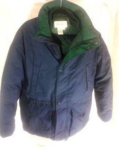 Eddie Bauer Goose Down Ridge Line Parka Jacket/ Coat, Large, Blue, NO HOOD #EddieBauer #BasicJacket