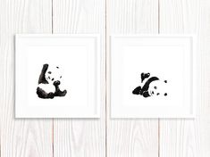 This is an archival print of my original painting of two cute pandas. I created this piece using ink on fine art paper. The print is on 250gsm