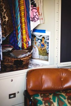 We spy Eames-inspired decor in this shoe designer's digs. #mcm #style