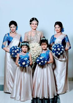 Bridesmaid Saree, Bridesmaid Outfit, Long Bridesmaid Dresses, Bridesmaids, Bridesmade Dresses, Bridal Dresses, Flower Girl Dresses, Flower Girls, Saree Wedding