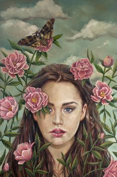 Andrea Barreda - acherontia atropos| pintura - Arte Manifiesto