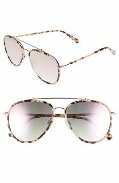 5358bb7d6f0fa D BLANC The Last 57mm Aviator Sunglasses