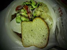 Houston Slavic Festival: Czech style pork schnitzel with cucumber salad, potatoes, and sauerkraut.