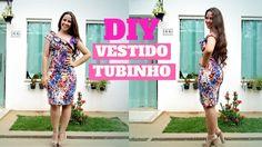 VESTIDO TUBINHO COM DECOTE ASSIMÉTRICO - COSTURE COMIGO | ELLEN BORGES