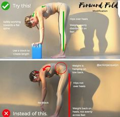 Standing forward fold, yoga