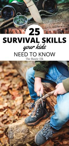 Would your child be able to survive on their own if they were lost in the woods? What if SHTF and you couldn't help? Any emergency situation will make survival skills paramount. These 25 survival…More Survival Life Hacks, Survival Food, Camping Survival, Outdoor Survival, Survival Prepping, Survival Knots, Emergency Preparation, Kids Survival Skills, Survival School