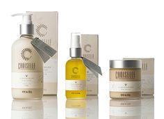 packaging / Choiselle / skincare products #label #bottles #hangtag