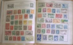 Triumph Stamp Album  by Raplin complete with over 1800 world stamps circa 1950's. Make an offer and this could be yours today