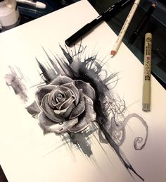 Rose Design by Lucky978 on @DeviantArt