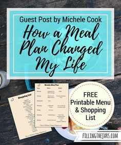 {Free Printable Meal Plan & Shopping List} I know it sounds crazy that a meal plan could change my life, but it's true & the results have been amazing.