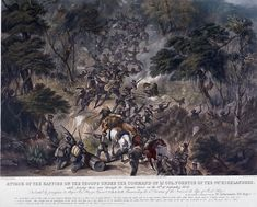 Attack on the 74th Highlanders, Kroomie Forest, 8th Cape Frontier War, 8 September 1851 | Online Collection | National Army Museum, London