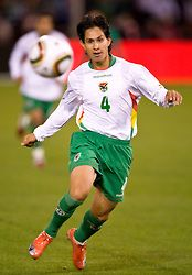February 24, 2010; San Francisco, CA, USA;  Bolivia defender Marvin Bejarano (4) during the first half against Mexico Candlestick Park.  Mexico defeated Bolivia 5-0.