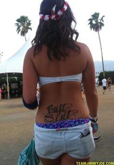 Bad Tattoos: 15 of the Worst Regrettable Disasters Bad Tattoos, Cute Tattoos, Worst Tattoos, Wife Affair, Tramp Stamp Tattoos, Terrible Tattoos, Awkward Family Photos, Tattoo Inspiration, Bikinis
