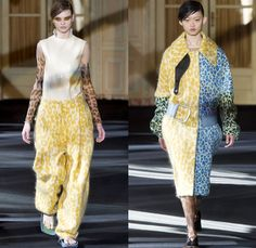 Acne Studios 2016-2017 Fall Autumn Winter Womens Runway Catwalk Collection Looks - Paris Fashion Week Mode à Paris France - 1980s Eighties PVC Vinyl Unitard Leotard Outerwear Trench Coat Quilted Waffle Puffer Onesie Jumpsuit Coveralls Sheer Chiffon Leather Leggings Stockings Tights Dress Sleek Miniskirt Loose Baggy Crop Top Midriff Sleeveless Vest Waistcoat Wire Thigh High Boots Boots Wide Belt Sandals Handbag Tote Snap Buttons Stripes