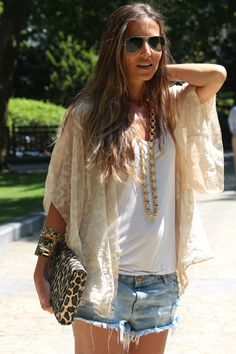 Summer Boho Chic. #fashion #style everything. Just everything. Love love LOVE the blouse too!