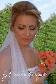 Summer inspired bridal makeup