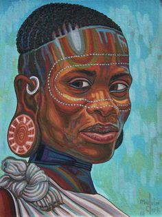 """African Lady"" by Melvin Clark http://www.melvinclarkart.com"
