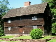 Buttolph-Williams House, built in 1711, is one of the oldest surviving homes in Wethersfield, Connecticut. This early 18th-century house is built in the traditional style of the Puritan settlers. The house has diamond-paned casement windows and weathered and blackened clapboards. The house plays a role in the Newbery Medal-winning book The Witch of Blackbird Pond, by Elizabeth George Speare. It was declared a National Historic Landmark in 1968.