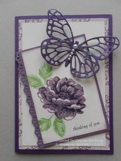 Stippled Blossoms Butterfly by niece - Cards and Paper Crafts at Splitcoaststampers