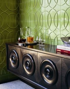 Studio Moderne Collection by Michael Berman for Walker Zanger. #tile #backsplash