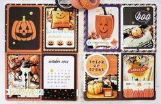 Trick Or Treat Layout by Melissa Phillips for Papertrey Ink (October 2014)