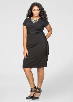 d062cf6903fcc Side Knot Sheath Dress Side Knot Sheath Dress Dresses For Work